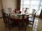 厂家直销实木餐桌椅中式酒店圆桌餐桌圆台榆木桌官帽椅